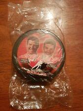2002 McDonald's Team Canada Hockey Puck Mario Lemieux & Scott Niedermayer