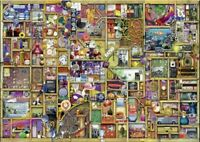 """Ravensburger 1000 piece jigsaw puzzle """"The Curious Cupboard""""- Used once/complete"""