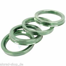 4 Centering Rings Anodized Aluminium Aluminum 72,5-57,1 Smoor,X-Tra Wheels,
