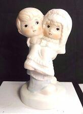 Vintage Wedding Cake Topper Child Figurine Porcelain