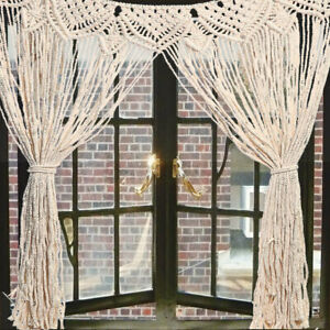 Large Macrame Wall Hanging Tapestry Home Window Curtain Wedding Deco
