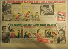 Super Suds Ad: Dish Washing Almost Cost Cora Her Job! Super Suds Ad! 1940's