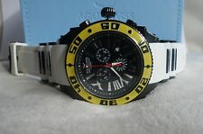 AQUASWISS Chronograph SWISSport Swiss Watch black yellow white New