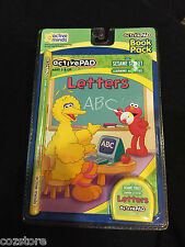 Active pad Sesame Street LETTERS Ages 3 & up Book & Cartridge New