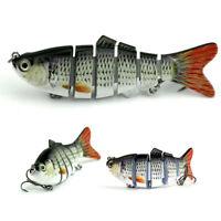 4 In Multi Jointed Fishing Bait Lure Swimbait Bass Pike Life Like Minnow Musky