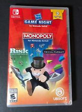 Hasbro Game Night [ Monopoly + Risk + Triial Pursuit ] (Nintendo Switch) NEW