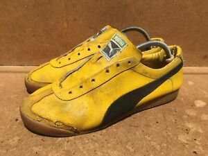 Vintage 80's Puma Gold Fit Sneakers Size UK 9 || USA 9.5 MADE IN YUGOSLAVIA