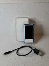 Apple iPod nano 7th Generation Blue (16 GB) case charger bundle working