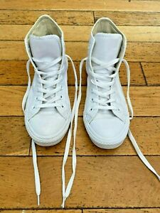 CONVERSE WHITE HI TOP TRAINERS SIZE 6 UK