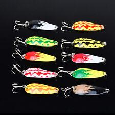10pcs/lot Spoon Colorful Hard Bait Bass CrankBaits Tackle Fishing Lures 5cm/7g