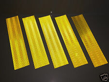 3M Diamond Grade Yellow/Gold Adhesive Reflective Tape Strips 50mm x 200mm (5/pk)