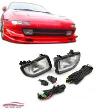 Fits For Toyota MR2 1991-1995 Front Driving Fog Lights Lamp Kit Clear Set