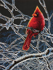 Cross Stitch Kit ~ Dimensions Night Time Ice Cardinal on Branch #70-35292