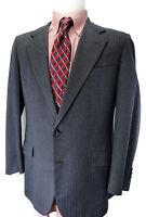 Hickey Freeman Blue-Gray Sport Coat Suit Jacket USA 42R Boardroom Blazer