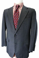Hickey Freeman Blue-Gray Sport Coat Suit Jacket USA 42R Boardroom Blazer