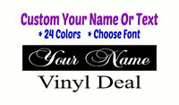 CUSTOM VINYL TEXT LETTERING Tablet Personalized Wall Window Car Sticker Decals