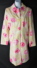 Medium Esprit Long Trench Lined Jacket Floral Coat Lightweight Womens M