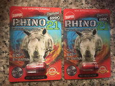 SUPER Rhino 21 Long Lasting 699K Male Enhancement 2 Pack (Best Seller)