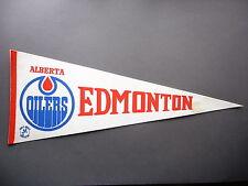 EARLY 1970'S 1972/73 ALBERTA EDMONTON OILERS WHA HOCKEY PENNANT FLAG SHARP!!