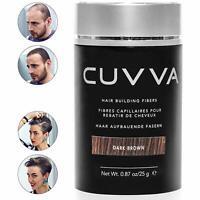 CUVVA DARK BROWN Hair Building Fibers One Bottle 0.87oz Free Shipping