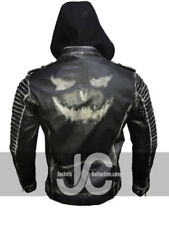 Jared Leto Joker Suicide Squad The Killing Joker Hooded Distresed Leather Jacket