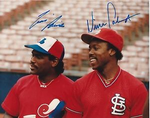 Tim Raines and Vince Coleman Signed - Autographed All Stars 8x10 inch Photo