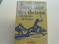 DICTONS des TERROIRS de FRANCE / INVENTAIRE des DICTONS / G. Cosson