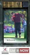 2001 UPPER DECK GOLF #1 TIGER WOODS RC ROOKIE EVENT-WORN SHIRT BGS 9.5 A9815-144