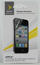 Sprint Iphone 4 / 4S Anti-Glare & Clear Screen Protector Technocel