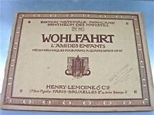 PARTITION WOHLFAHRT PIECES MELODIQUES POUR PIANO A QUATRE MAINS OP. 87  HENRY-L