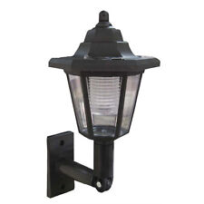 BRAND NEW SOLAR WALL LANTERN WHITE LED WALL MOUNTED OUTDOOR GARDEN LIGHTS LAMP.