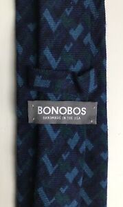 """Bonobos Tie, Cool-Toned Angles, 3"""" Width, New-w/o-Tags!"""