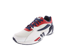 Fila Mens Size US 8 - 13 Athletic Mindblower Leather White Black Sneaker Shoes