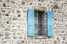 Splendido francese FINESTRA PERSIANE IN PROVENZA #831 foto su tela Wall Art A1