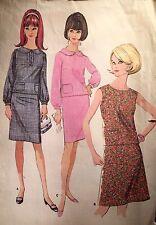 CUT VINTAGE 1960s 'MC CALL'S' 2PIECE & SHIFT DRESS PATTERN 8355 SIZE 11 JR