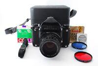 """EXC +5 in Case"" Pentax 6x7 67 Eyelevel + SMC T 105mm f2.4 + Strap Japan 5921"