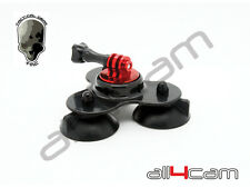 TMC Triple Suction Cup Mount for GoPro HERO 2 3 3+ 4 5 (black)