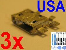 3x Micro USB Charging Port Sync For Motorola Droid 3 XT862 XT907 XT926 XT926M US
