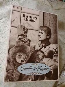 1997 ROBERT RAIKES BEARS LUCILLE AND DAPHNE ORIGINAL BOX CERTIFICATE EXCELLENT