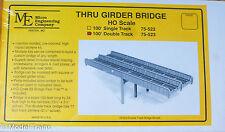 Micro Engineering, Inc. HO #75523 Through Girder Bridge 100' Double Track Kit