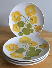 "4 Vintage 1975 Noritake Flower Time Progression China Dinner Plates 10 1/2"""