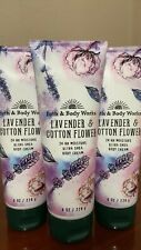 3 Bath Body Works*Lavender & Cotton Flower*Cream Lotion*Free Priority Shipping!