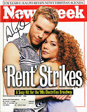Adam Pascal Signed RENT 1996 Entertainment Weekly Magazine RARE COA