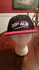 Play Top Gun Sports Ball Cap in Black & Red Flat Brim One Size NEW