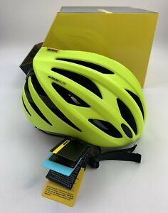Mavic Aksium Elite Road Cycling Helmet Neon Yellow Size Medium New