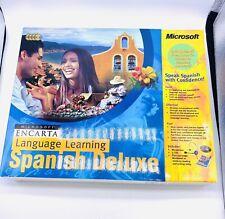 Microsoft Encarta Language Learning Spanish Deluxe X05-72279  Sealed