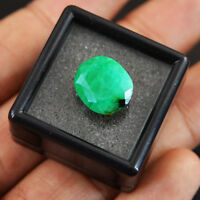 6.10 Cts Earth Mined Faceted Rich Green Emerald Oval Shape 100 % Genuine Gem