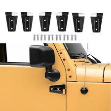 Replacement Door Hinges & Hinges Black 2Doors For 07-17 Jeep Wrangler JK Factory