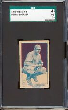 1921 W516-2-3: Tris Speaker #6 Scarcely offered variation  SGC 45 3.5