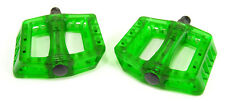 Wellgo B107 Flat Mountain Bike/BMX/DH Bicycle Pedals Translucent Clear Green